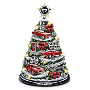 The Bradford Exchange Ford Mustang Holiday Tabletop Tree: Oh What Fun It Is To Drive! at Sears.com