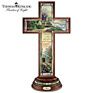 The Bradford Exchange Hope Cross: Thomas Kinkade Illuminated Stained Glass-Style Hope Cross at Sears.com