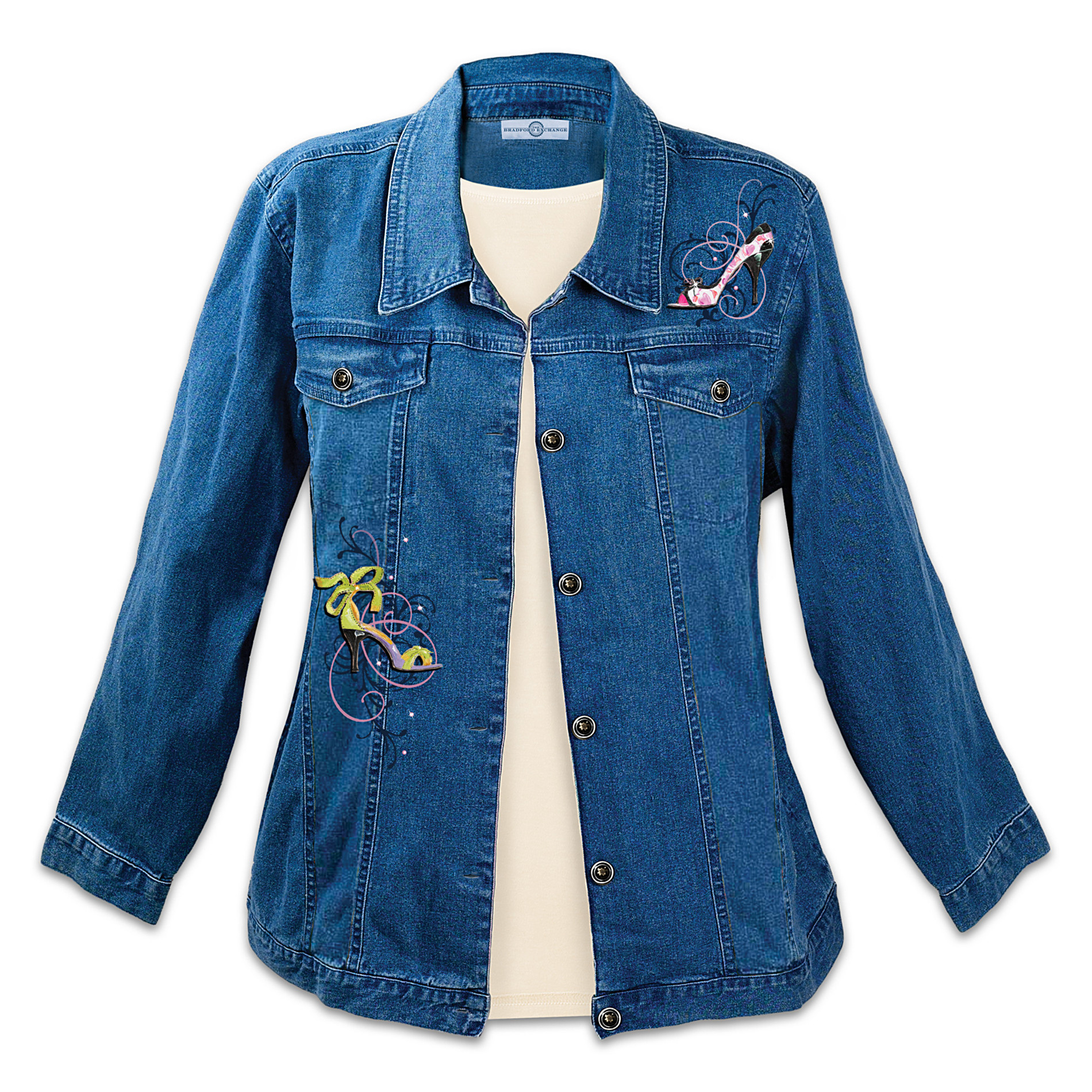 The Bradford Exchange Shoe Lovers Women's Denim Jacket: Steppin' Out at Sears.com