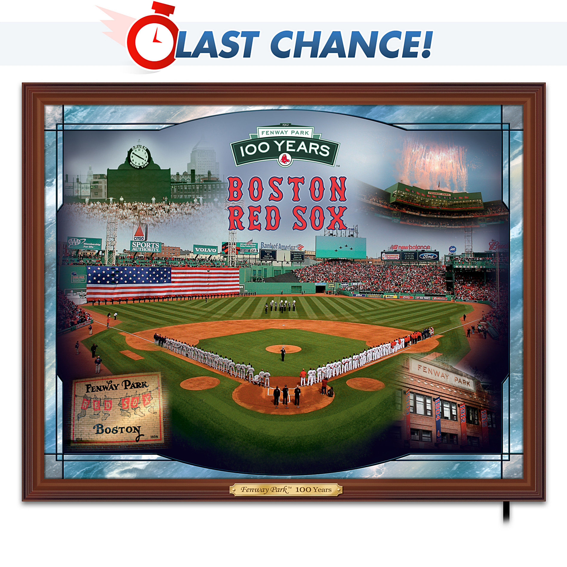 The Bradford Exchange MLB Boston Red Sox Fenway Park - 100 Years Wall Decor at Sears.com