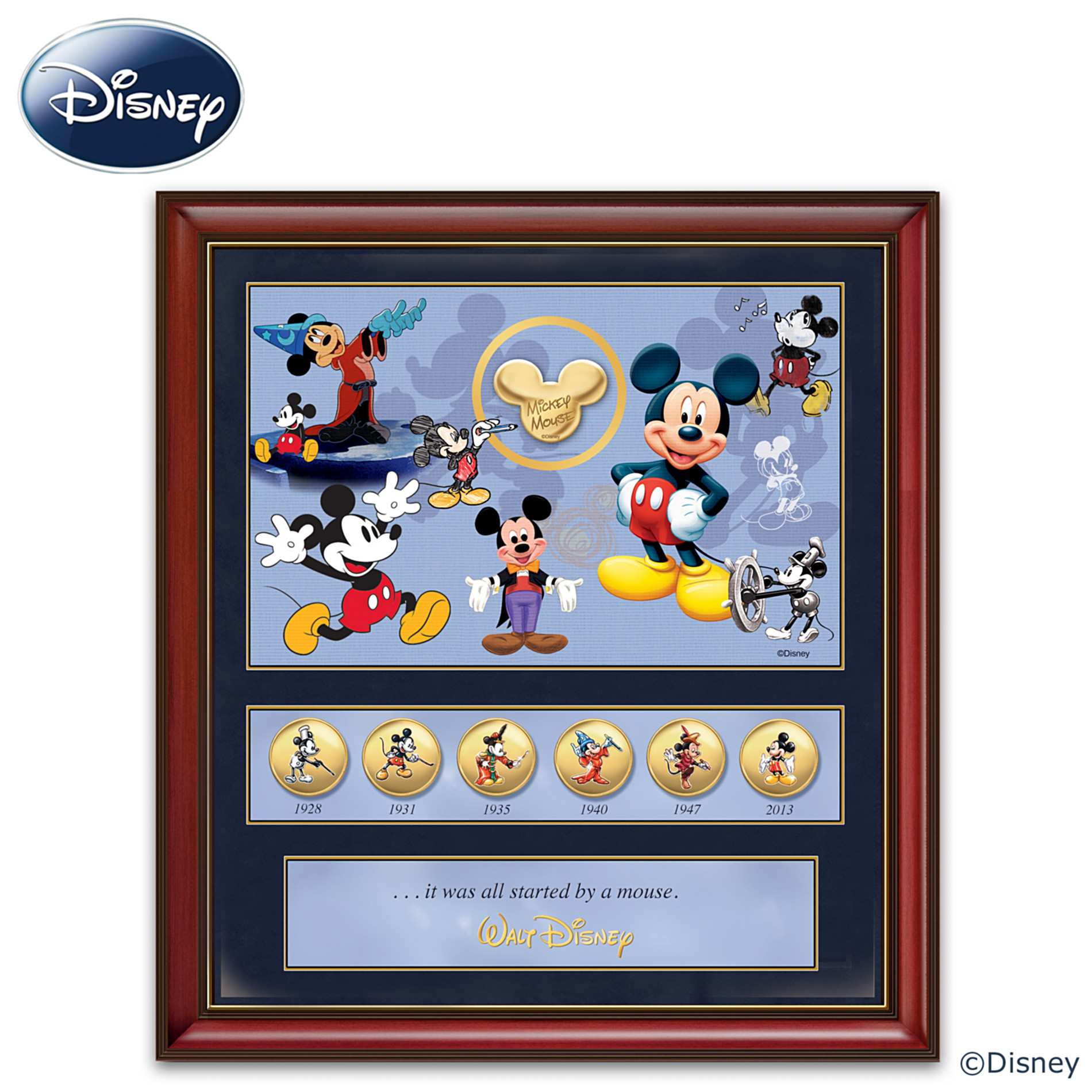 The Bradford Exchange 85th Anniversary Wall Decor: Disney Mickey Mouse Commemorative Print at Sears.com