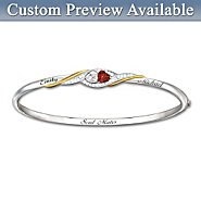 The Bradford Exchange Bracelet: Two Hearts Become Soul Mates Personalized Bracelet at Sears.com