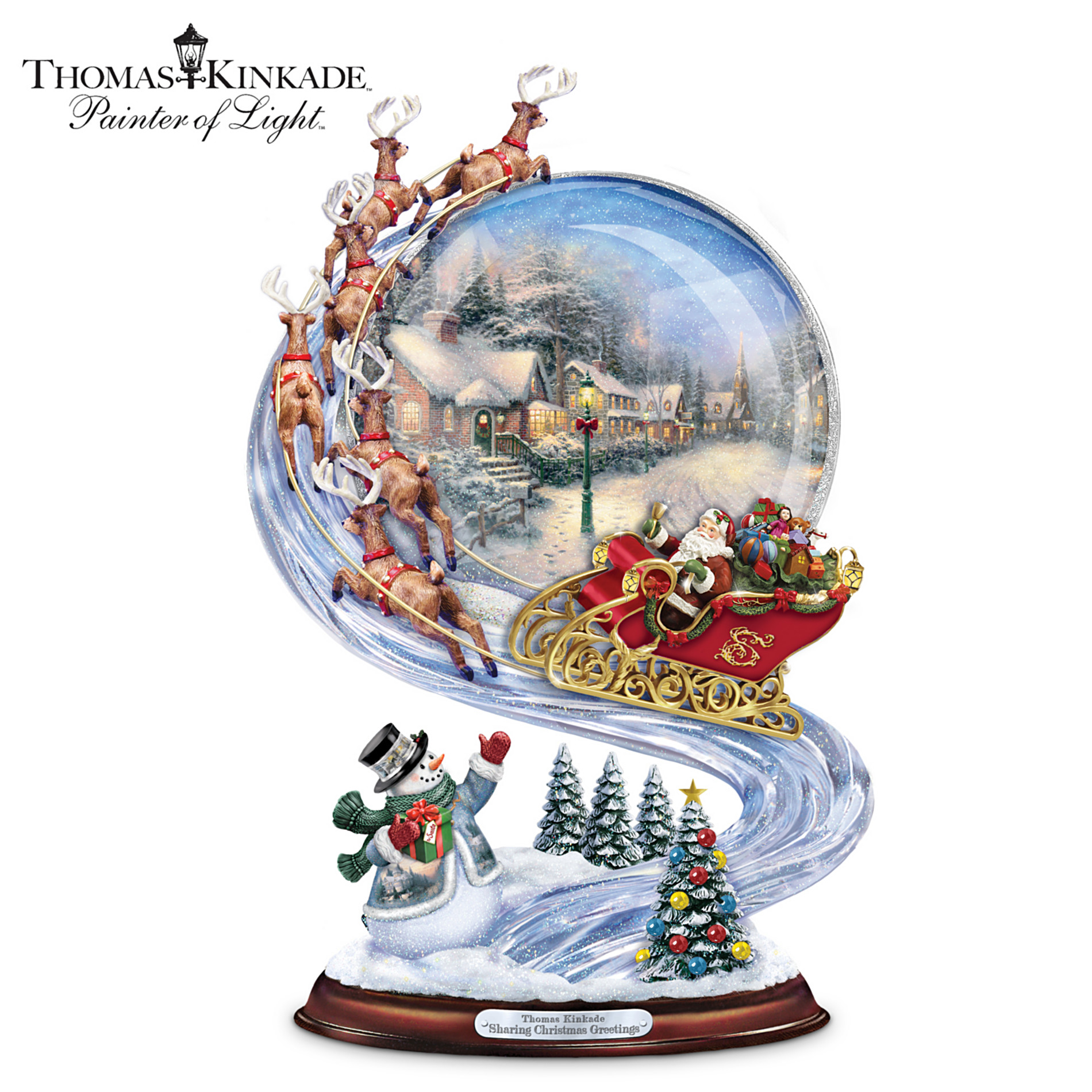 The Bradford Exchange Sculpture: Thomas Kinkade Sharing Christmas Greetings Sculpture at Sears.com