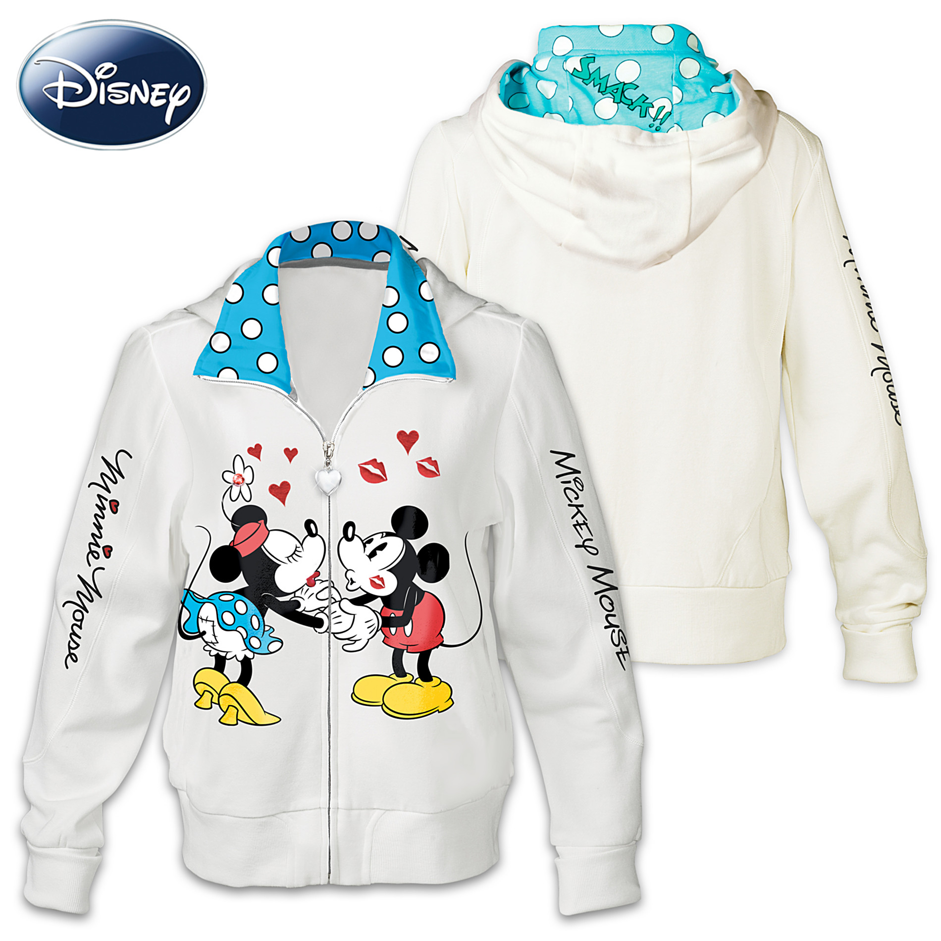 The Bradford Exchange Disney Kissin' Mickey And Minnie Women's Hoodie at Sears.com