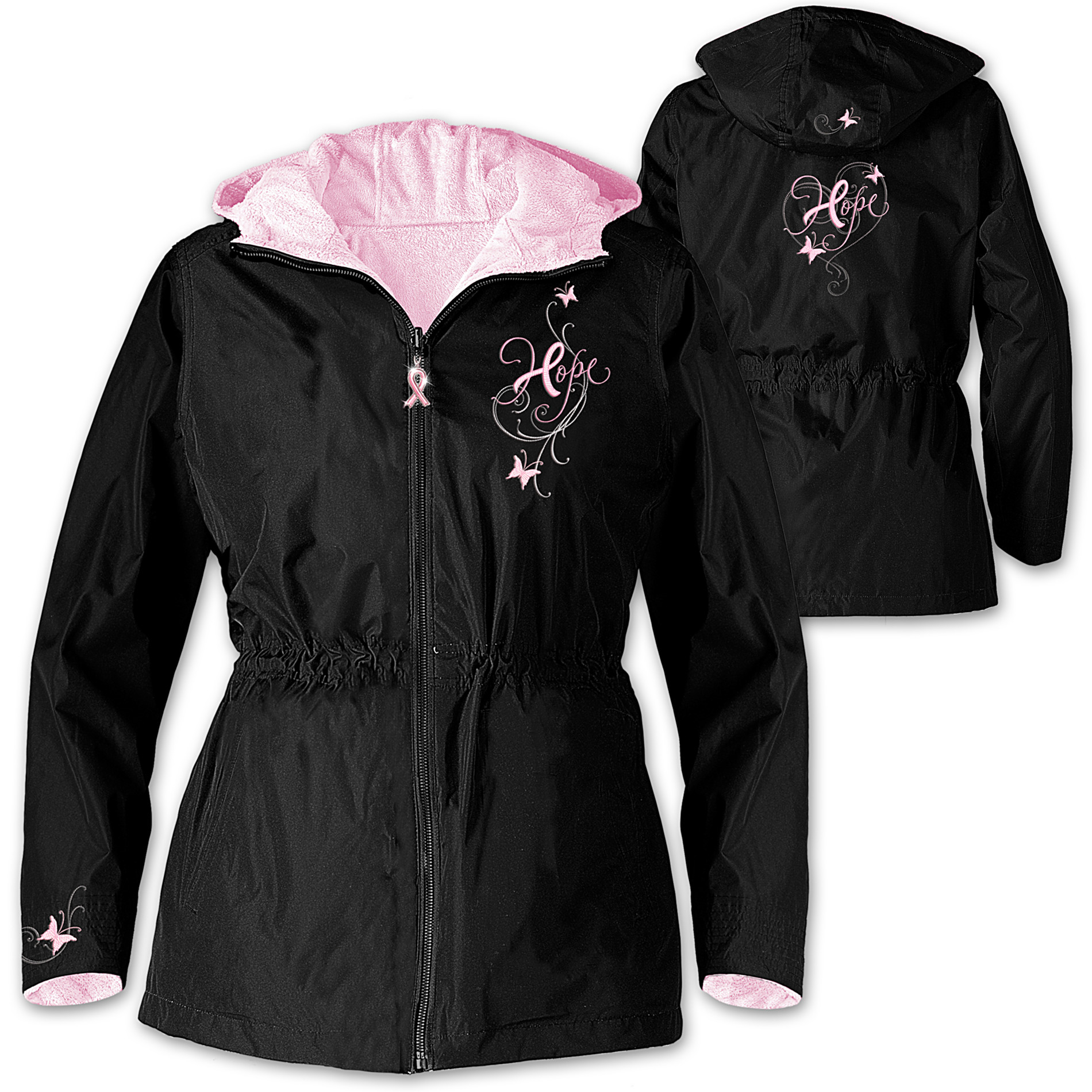The Bradford Exchange Breast Cancer Support Women's Jacket: Ribbons Of Hope at Sears.com