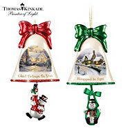 The Bradford Exchange Christmas Ornaments: Thomas Kinkade Ringing In The Holidays Ornament Set: Set 8 at Sears.com