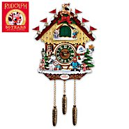 The Bradford Exchange Cuckoo Clock: Rudolph The Red-Nosed Reindeer 50th Anniversary Cuckoo Clock at Sears.com