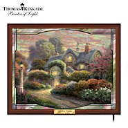 The Bradford Exchange Thomas Kinkade Rosebud Cottage Stained Glass Wall Decor at Sears.com