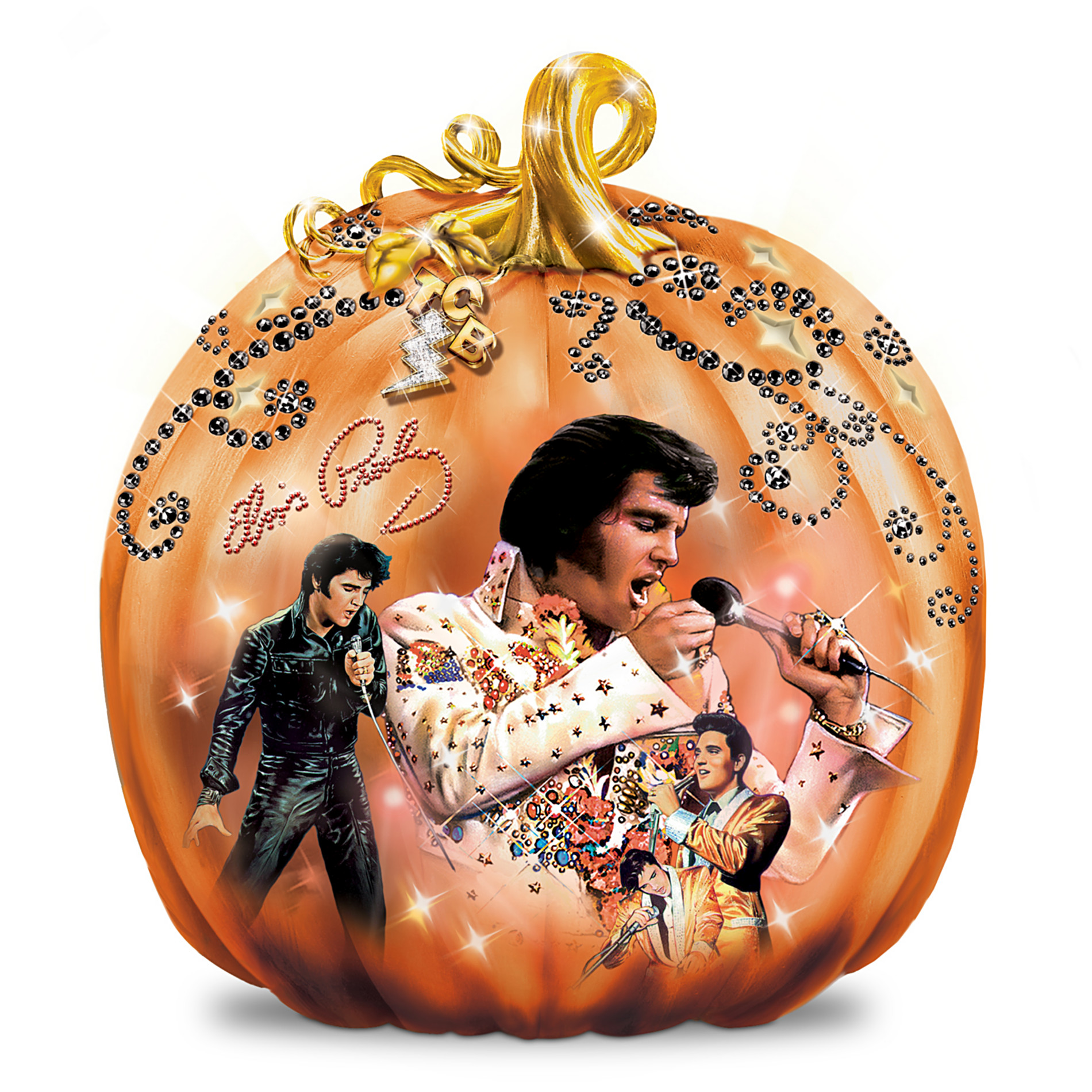 The Bradford Exchange Elvis Takin' Care Of Halloween Pumpkin Sculpture at Sears.com
