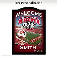 The Bradford Exchange Wisconsin Badgers Personalized Welcome Sign at Sears.com