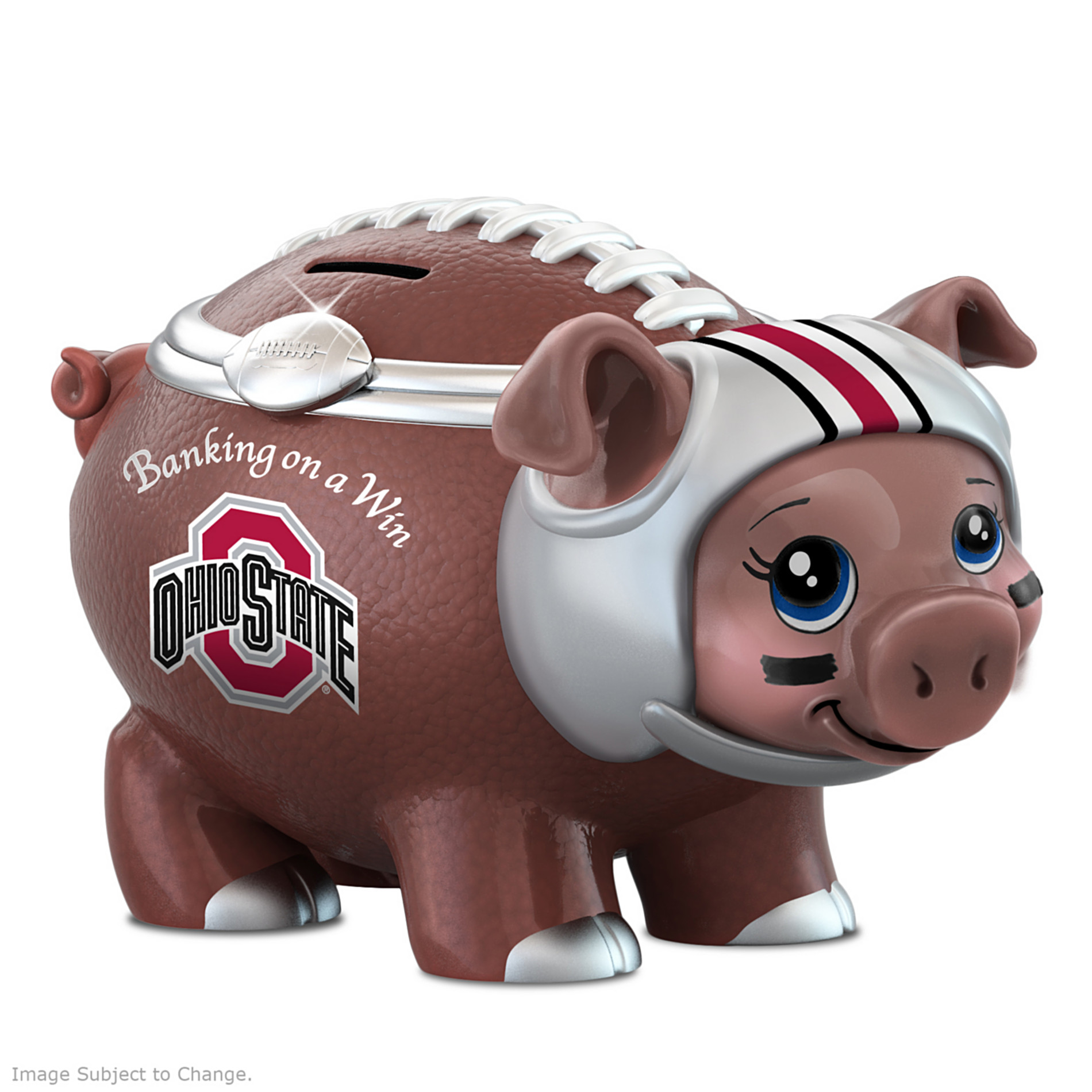 The Bradford Exchange Ohio State Football Fan Piggy Bank: Banking On A Win at Sears.com