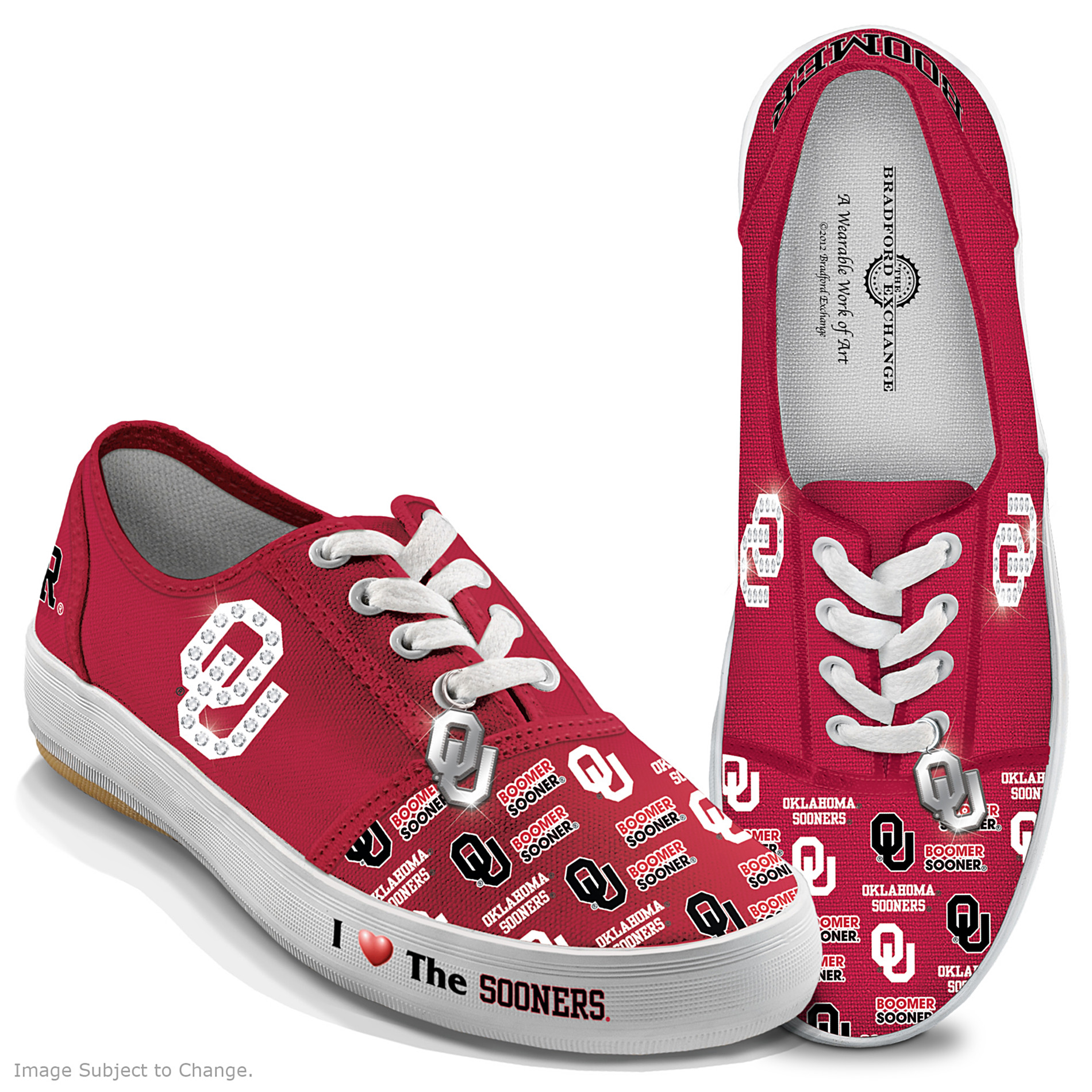 The Bradford Exchange University Of Oklahoma Sooners Women's Shoes: I Love The Sooners at Sears.com