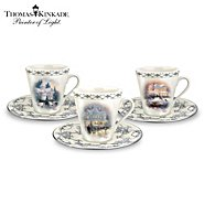 The Bradford Exchange Thomas Kinkade Winter Elegance Teacup & Saucer Set at Sears.com
