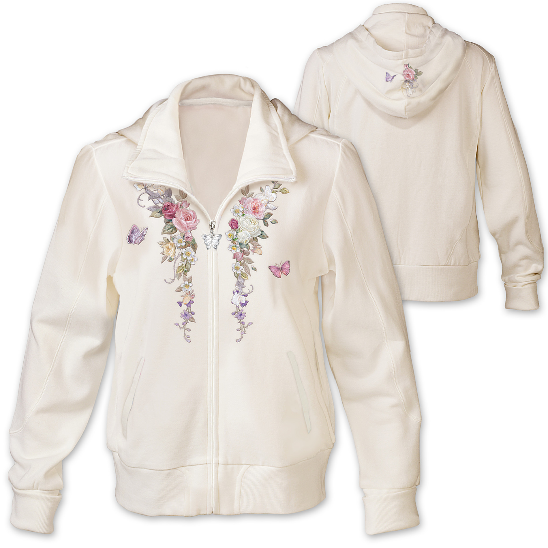 The Bradford Exchange Women's Hoodie: Lena Liu Floral Cascade at Sears.com