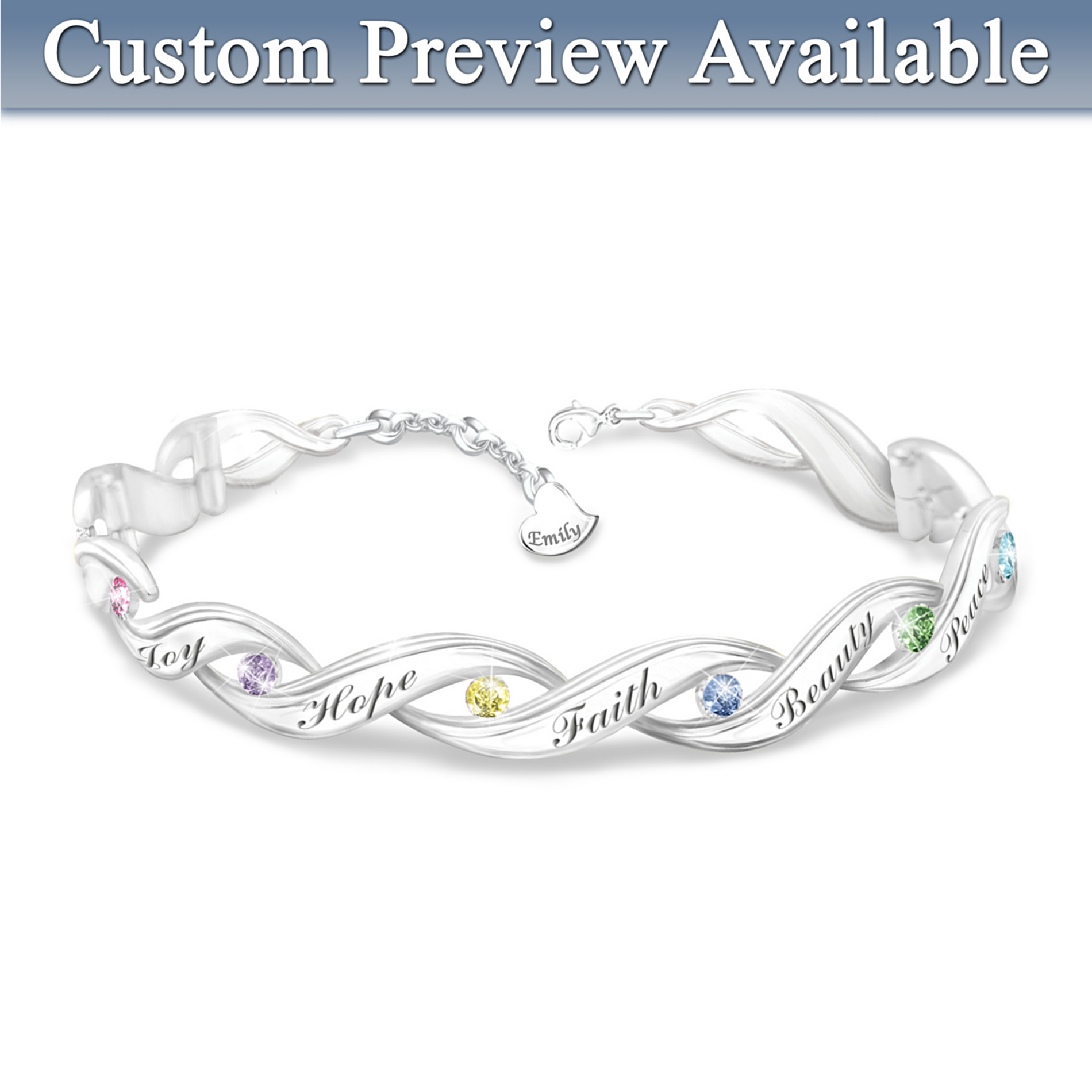 The Bradford Exchange Wishes For My Granddaughter Personalized Bracelet at Sears.com