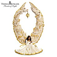 The Bradford Exchange Thomas Kinkade Illuminated African American Nativity Angel Sculpture: Away In A Manger at Sears.com