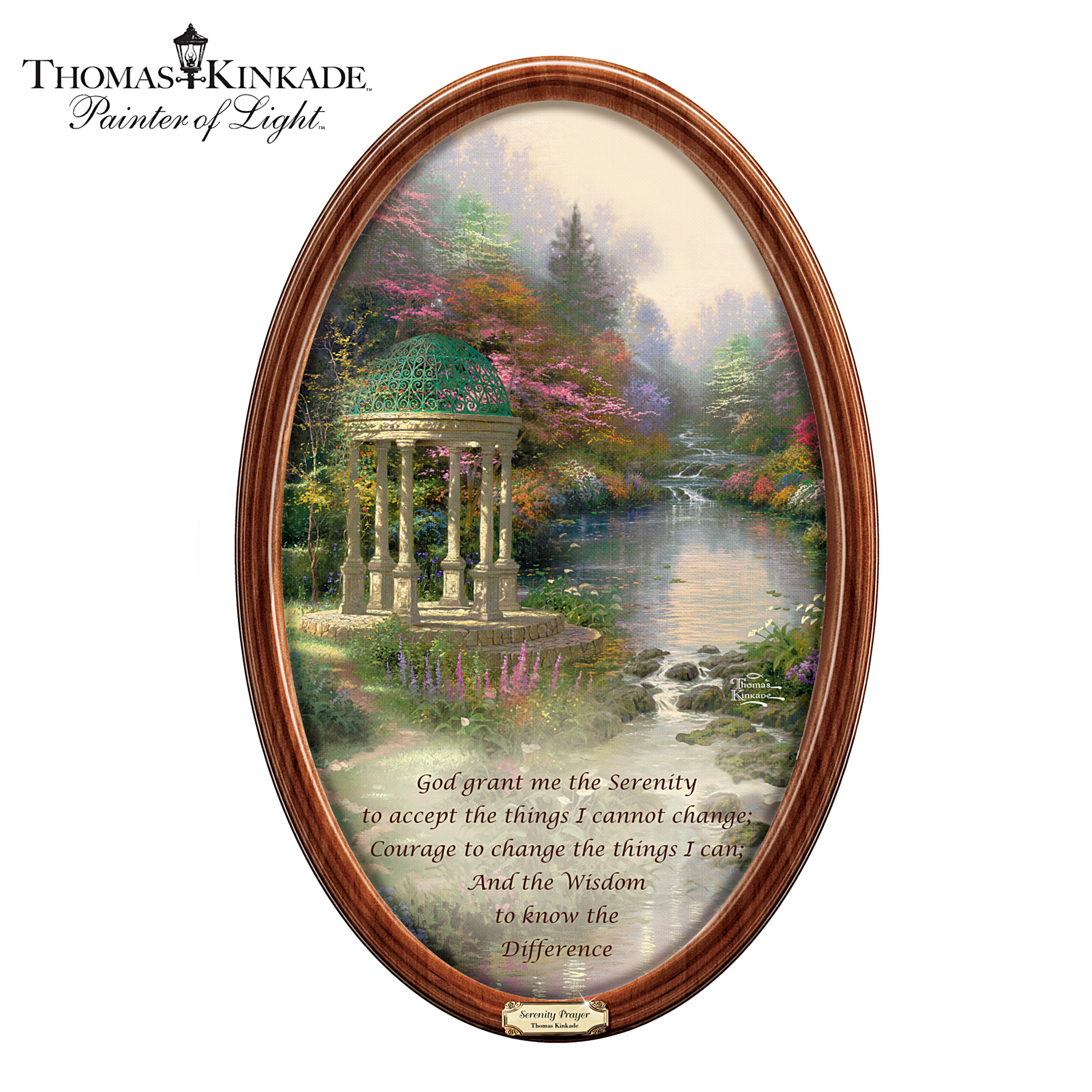 The Bradford Exchange Thomas Kinkade Garden Of Prayer Masterpiece Collector Plate at Sears.com