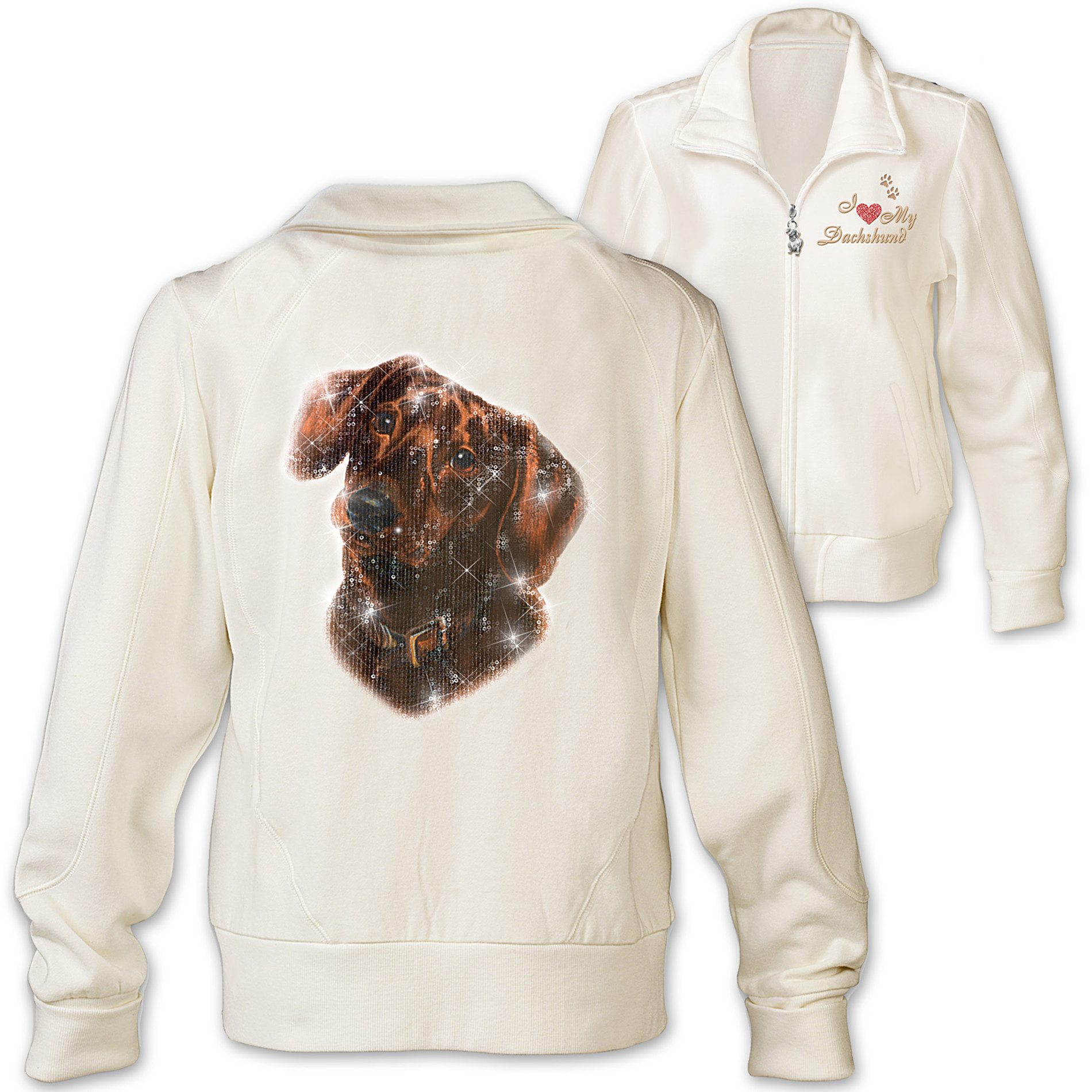 The Bradford Exchange Women's Jacket: Doggone Cute Dachshund at Sears.com