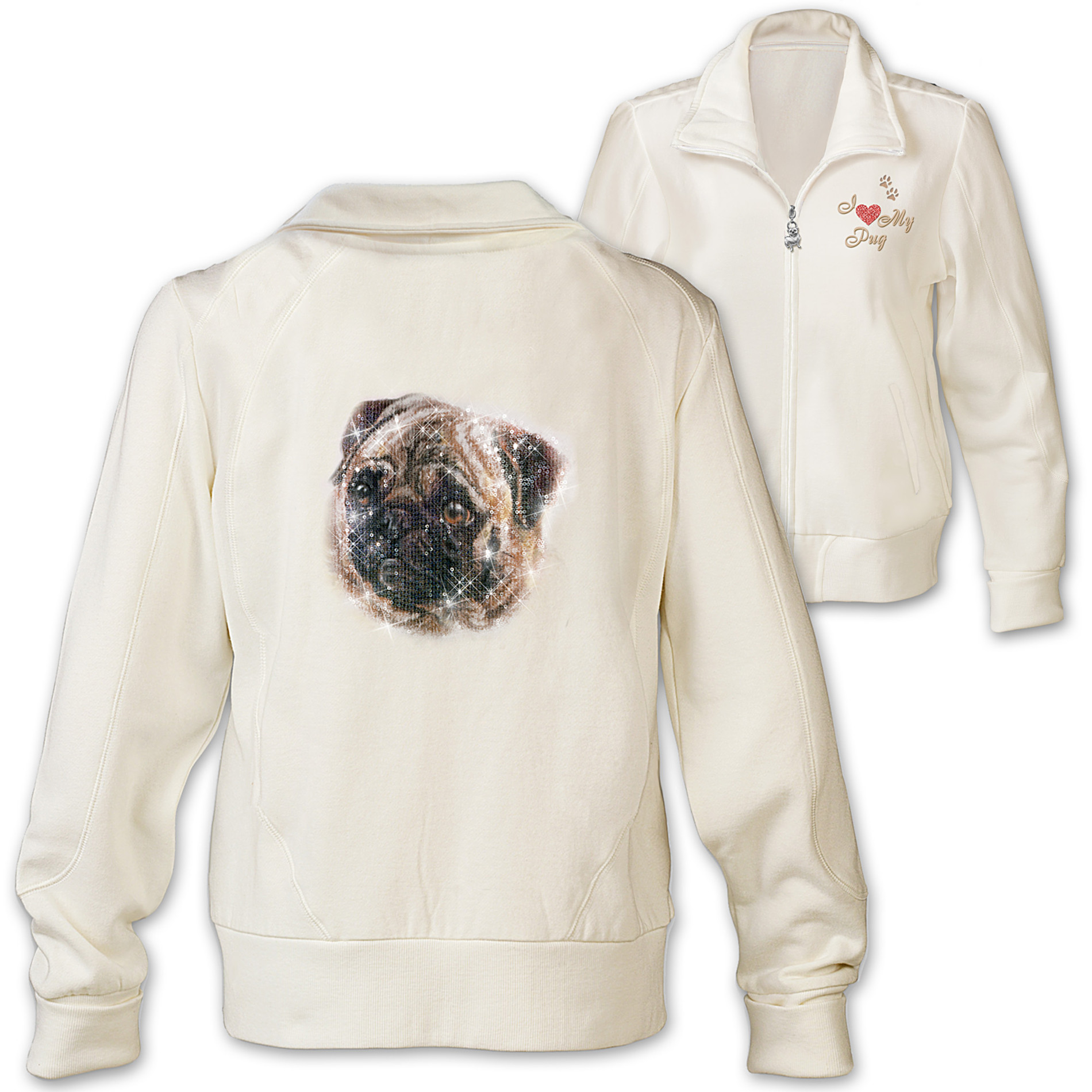 The Bradford Exchange Women's Jacket: Doggone Cute Pug at Sears.com