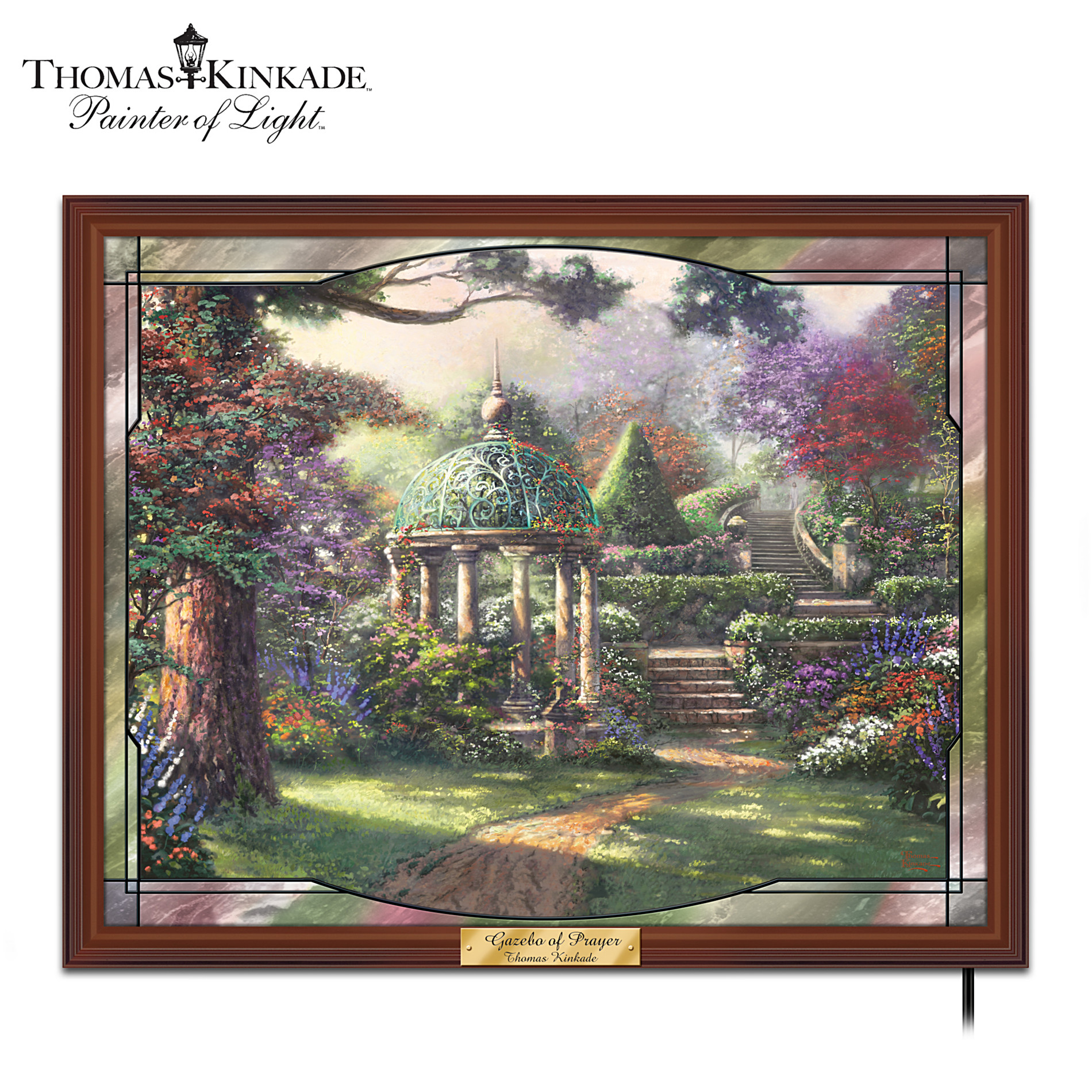 The Bradford Exchange Thomas Kinkade Gazebo Of Prayer Stained-Glass Wall Decor at Sears.com