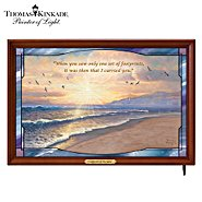 The Bradford Exchange Wall Decor: Thomas Kinkade Footprints In The Sand Illuminated Stained Glass Panorama at Sears.com