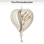 The Bradford Exchange Personalized Heirloom Ornament: The Key To My Heart at Sears.com
