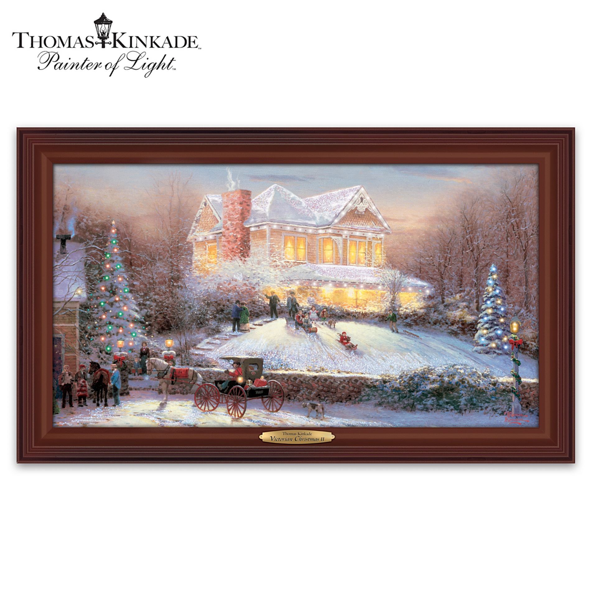 The Bradford Exchange Wall Decor: Thomas Kinkade Victorian Christmas II Wall Decor at Sears.com