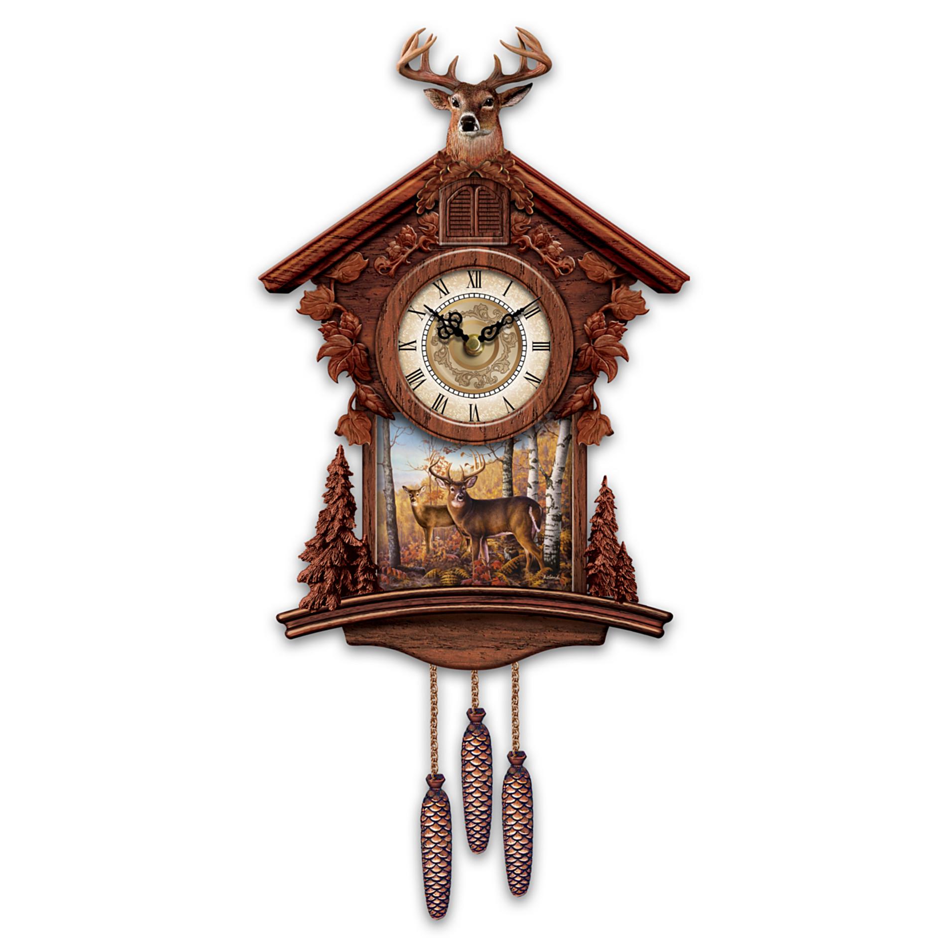 The bradford exchange train cuckoo clock golden spike from - Motorcycle cuckoo clock ...