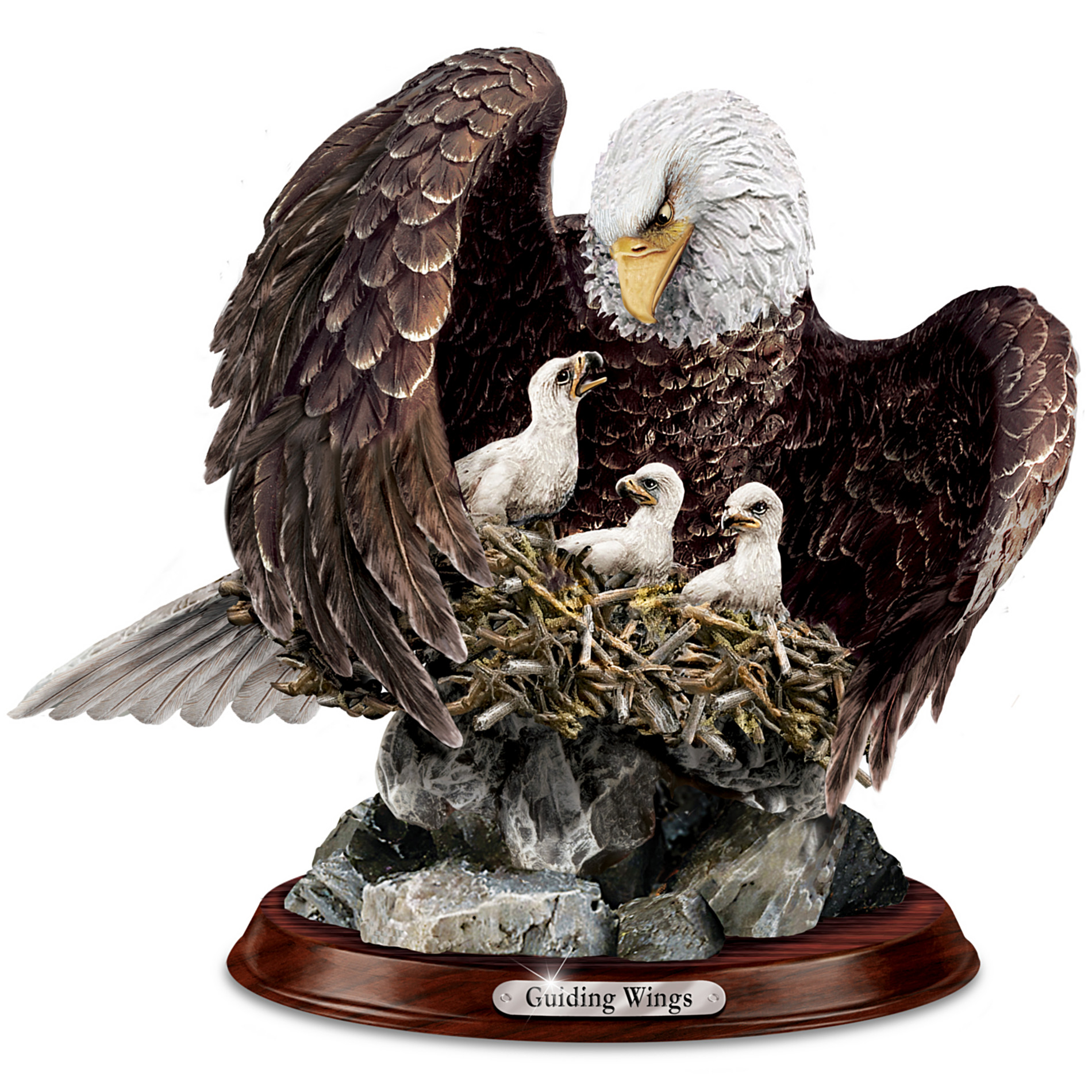The Bradford Exchange Bald Eagle Sculpture: Guiding Wings at Sears.com