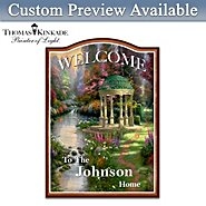 The Bradford Exchange Thomas Kinkade Personalized Welcome Sign Wall Decor at Sears.com