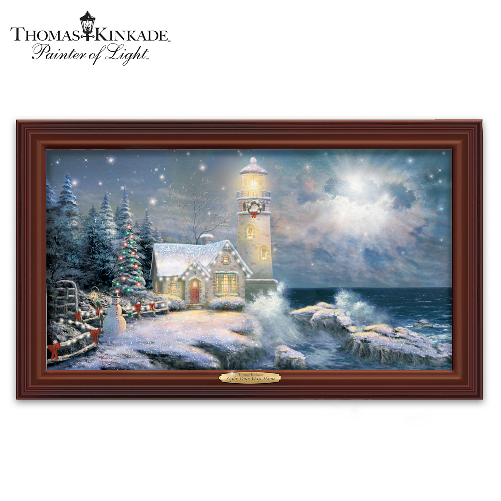 The Bradford Exchange Wall Decor: Thomas Kinkade Light Your Way Home Wall Decor at Sears.com
