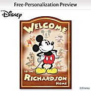 The Bradford Exchange Wall Decor: Personalized Disney Mickey Mouse Welcome Sign at Sears.com