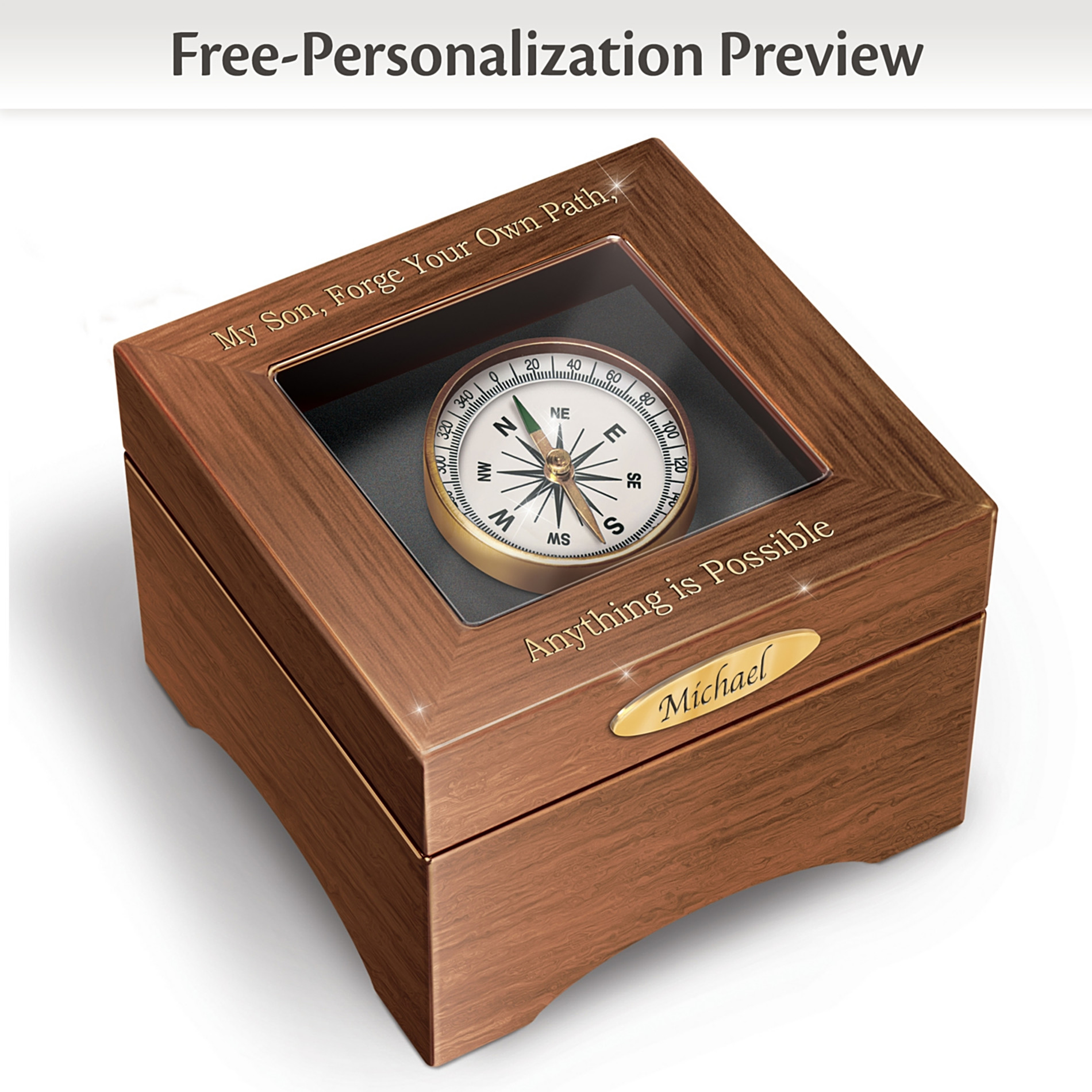 The Bradford Exchange Keepsake Box: Son, Forge Your Path Personalized Keepsake Box at Sears.com