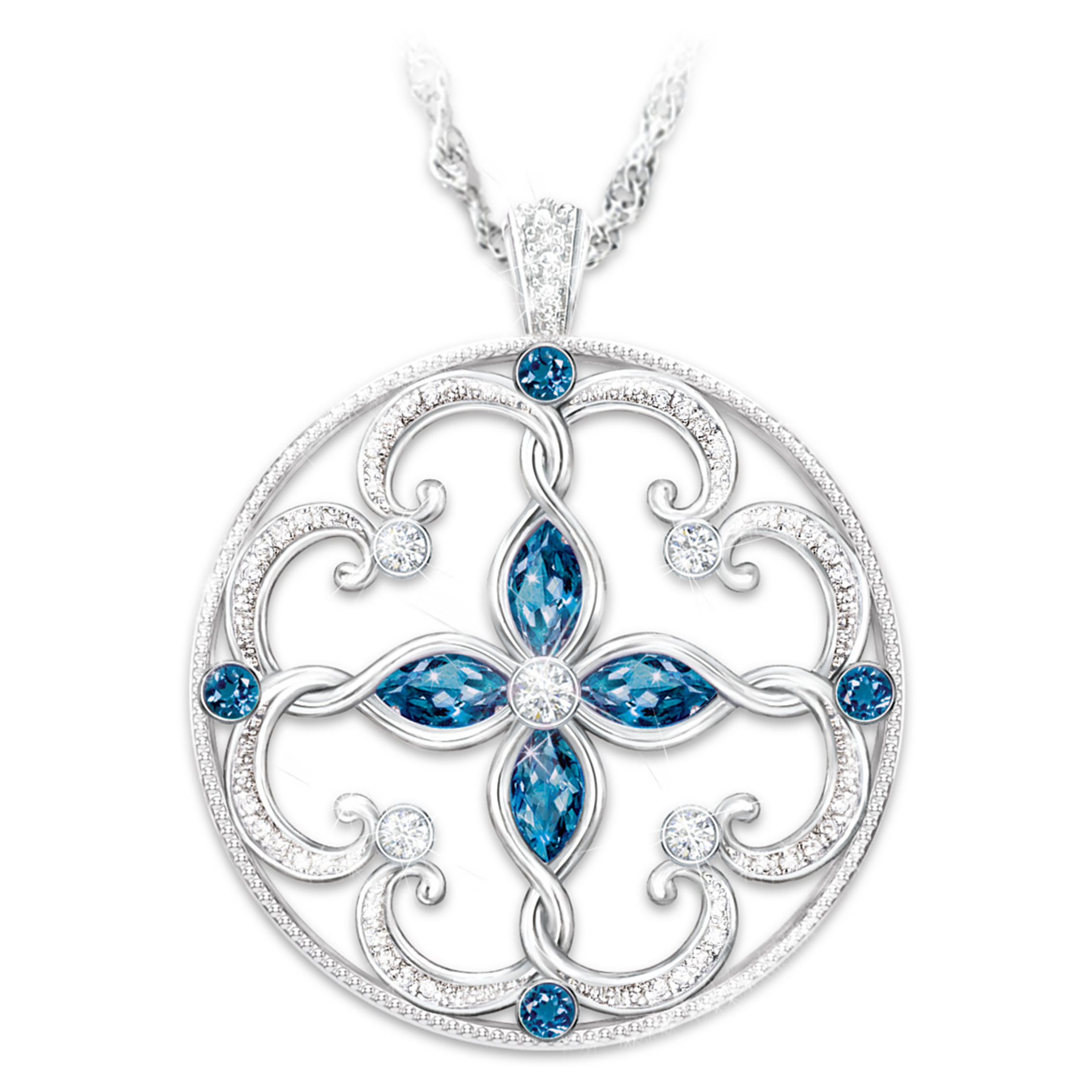 The Bradford Exchange Topaz Pendant Necklace: Infinite Blessings Granddaughter Necklace at Sears.com
