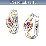 The Bradford Exchange Women's Earrings: Wrapped In Love Personalized Earrings at Sears.com