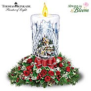 The Bradford Exchange Floral Bouquet: Thomas Kinkade All Is Bright Table Centerpiece at Sears.com