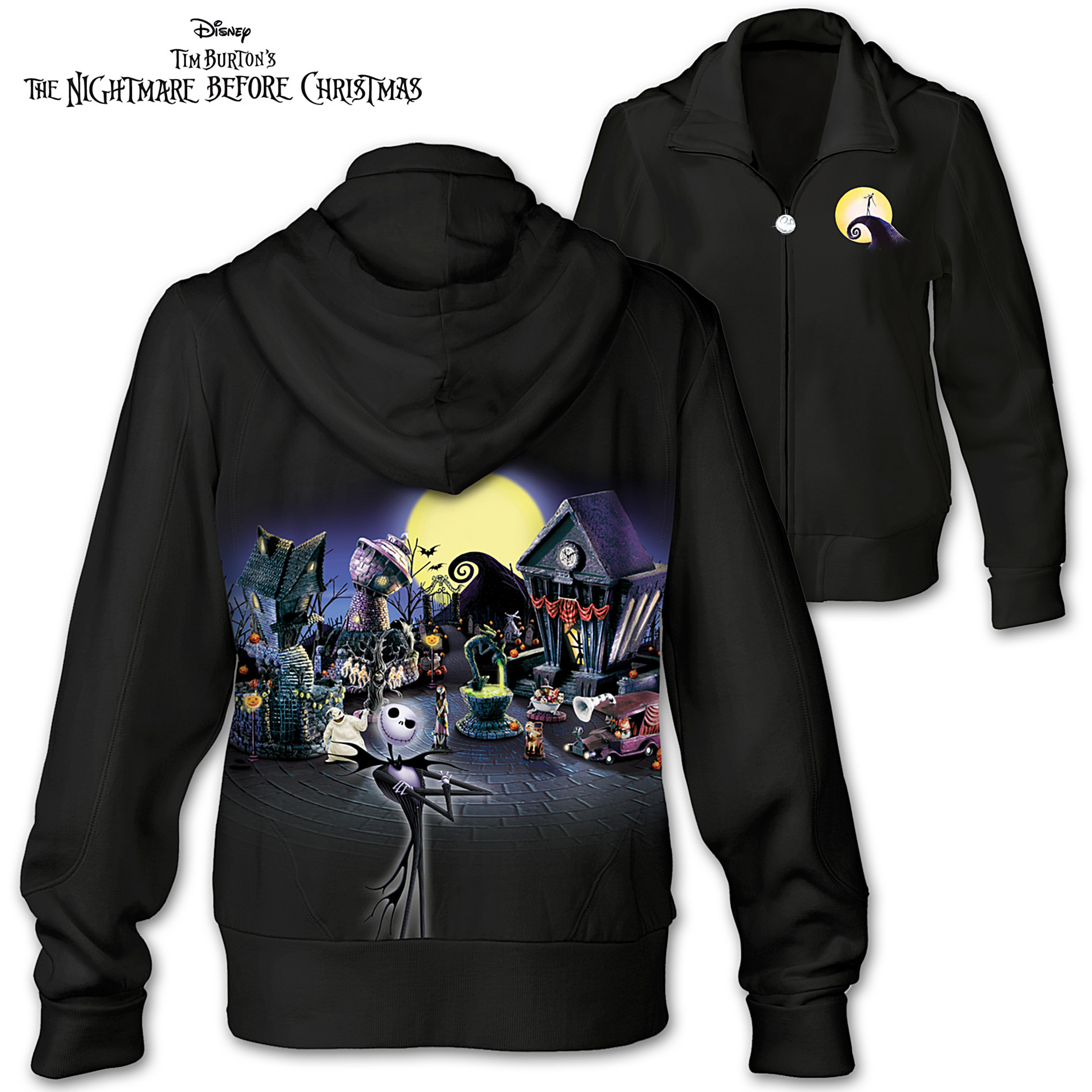 The Bradford Exchange Women's Apparel: Tim Burton's The Nightmare Before Christmas Women's Hoodie at Sears.com