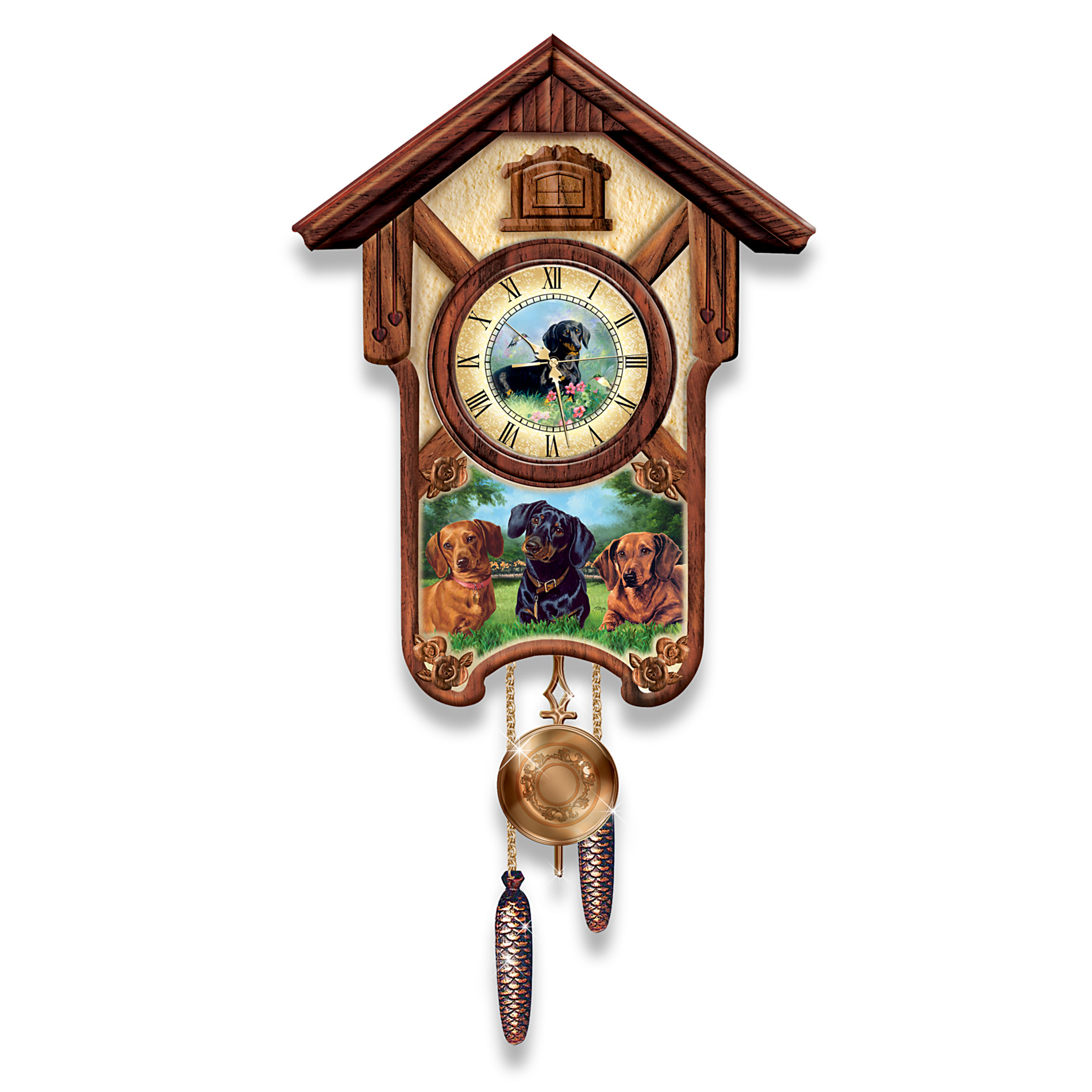 Find the bradford exchange available in the wall clocks section at sears - Motorcycle cuckoo clock ...