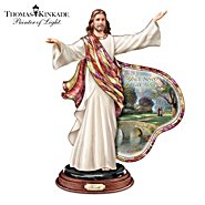The Bradford Exchange Sculpture: Thomas Kinkade And Louis Comfort Tiffany-Style Journey Of Faith Jesus Sculpture at Sears.com