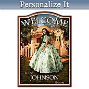 The Bradford Exchange Welcome Sign: Home To Tara: Gone With The Wind Family Personalized Wooden Welcome Sign at Sears.com
