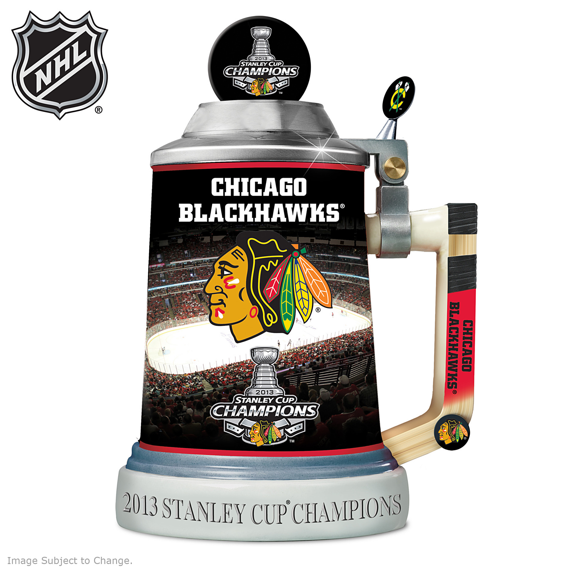 The Bradford Exchange Officially-Licensed Chicago Blackhawks® 2013 Stanley Cup® Championship Stein at Sears.com