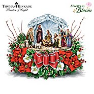 The Bradford Exchange Thomas Kinkade O Holy Night Illuminated Crystal Nativity Scene Table Centerpiece at Sears.com
