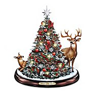 The Bradford Exchange Wonders Of The Season Illuminated Holiday Tabletop Tree With Deer And Cardinals at Sears.com