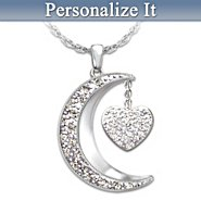 The Bradford Exchange Necklace: I Love My Family To The Moon And Back Personalized Diamond Pendant Necklace at Sears.com