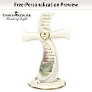 The Bradford Exchange Thomas Kinkade Memories Of Love Remembrance Personalized Cross at Sears.com