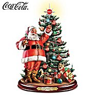The Bradford Exchange COCA-COLA Spreading Holiday Cheer Tabletop Tree With Santa Claus, Lights And Music at Sears.com
