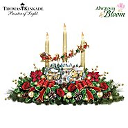 The Bradford Exchange Thomas Kinkade The Lights Of Christmas Illuminating Village Table Centerpiece at Sears.com