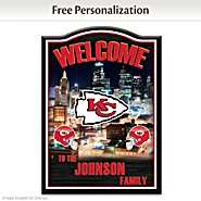 The Bradford Exchange Welcome Sign: Kansas City Chiefs Personalized Welcome Sign at Sears.com