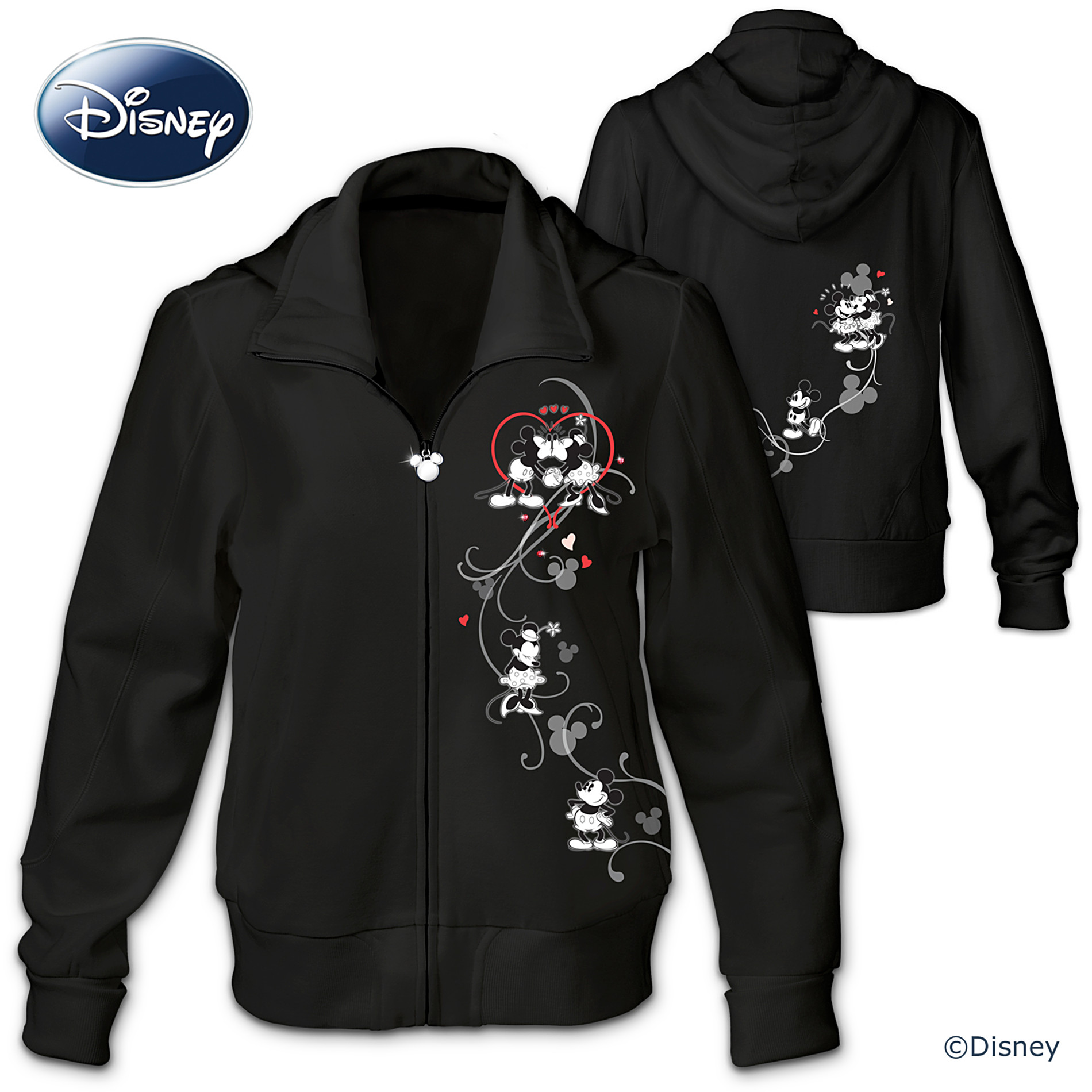The Bradford Exchange Hoodie: Disney Love Story Mickey And Minnie Women's Hoodie at Sears.com