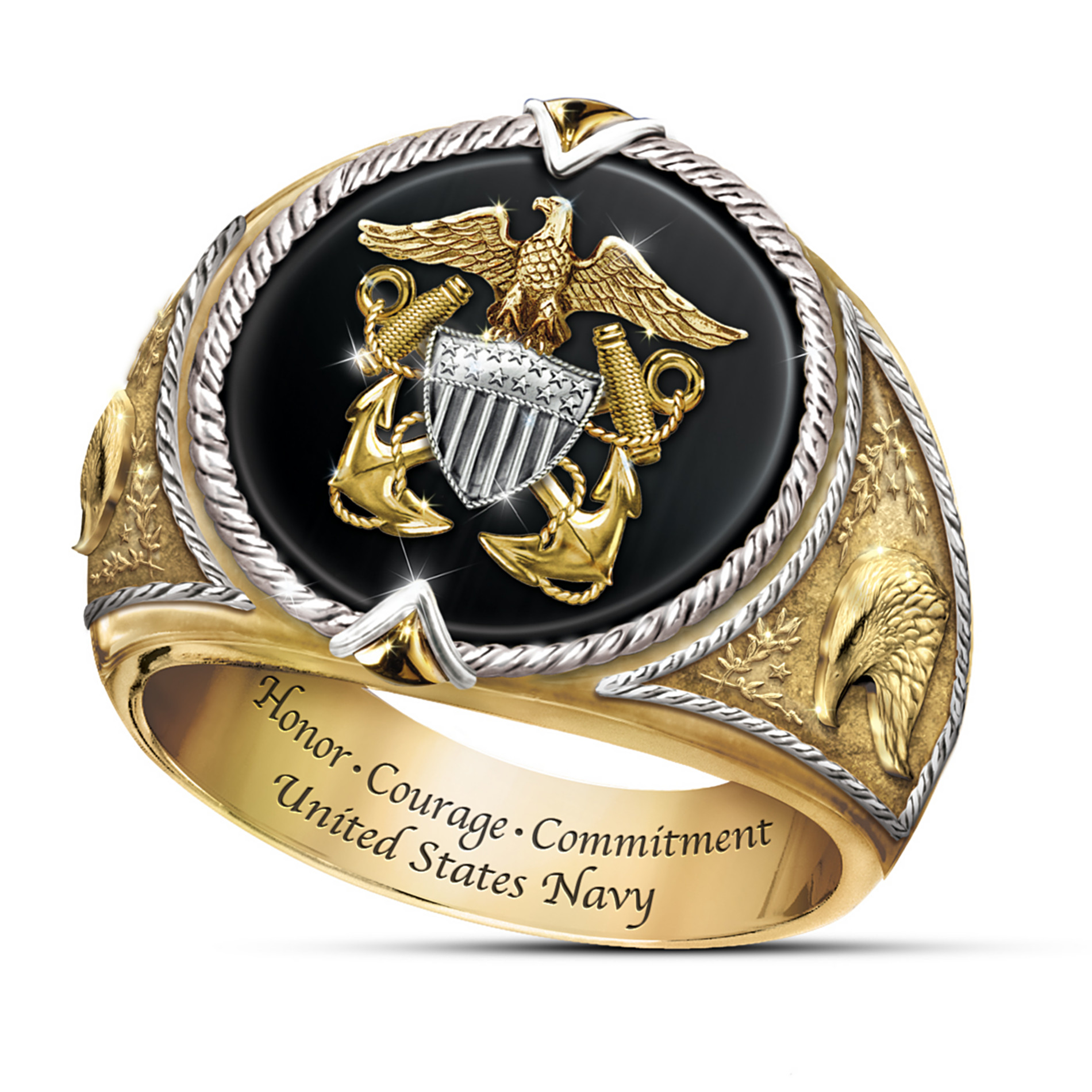 The Bradford Exchange Ring: Honor, Courage And Commitment U.S. Navy Tribute Ring at Sears.com